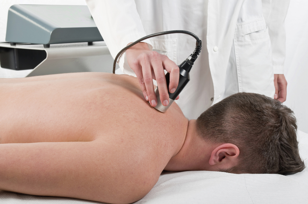 Man getting infrared therapy